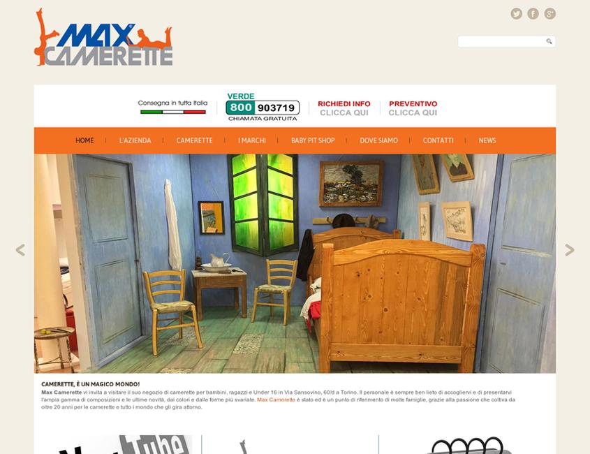Max Camerette Sito Wordpress